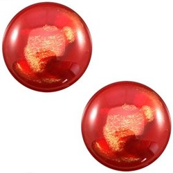 Polaris Cabochon. Rond. 12mm. Horus Shiny Jester Red.