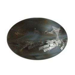 Glass Stone 13x18mm. Oval.Grey. Suitable for an oval box
