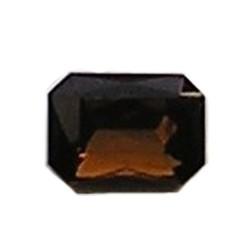 Glazen Steen 13x18mm. Smoked Topaas. (voor kastje 27504.01 en 27504.02)