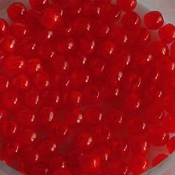 Glaskraal. 3mm. Rond. Opaal Red. 100 stuks voor