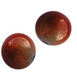 Glaskraal. 4mm. Miracle Bead. Oranje Wit.