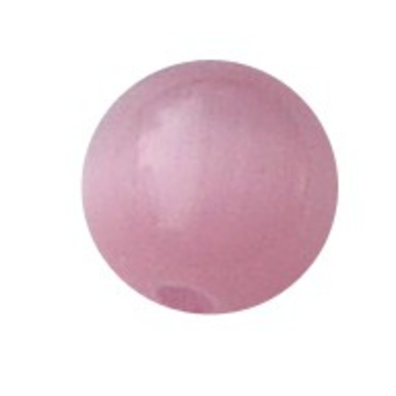 Glass bead. 4mm. Cateye. Pink. 20 pieces for