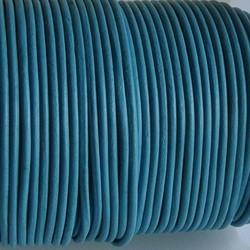 Leerveter. 2mm dik. Soepele kwaliteit. Turquoise.