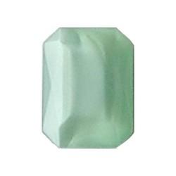 Glazen Steen 13x18mm. Shiny Lightgreen Opal. (voor kastje 27504.01 en 27504.02)