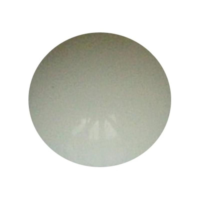 Cabochon. Wit Opaque. Glas. Rond. 10mm.