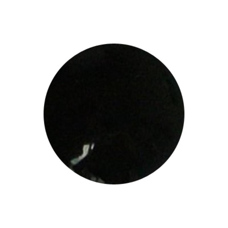 Cabochon. Zwart Opaque. Glas. Rond. 10mm.