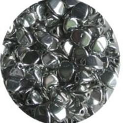 Pinch Bead. 3x5mm. Full Silver
