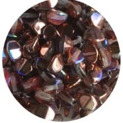 Pinch Bead. 3x5mm. Crystal Rainbow Copper.