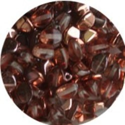 Pinch Bead. 3x5mm. Crystal Capri Gold.
