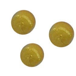 Glass bead. 6mm. Miracle Bead. Yellow.
