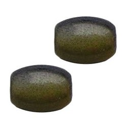 Glass bead. 7x11mm. Oval. Grey Yellow