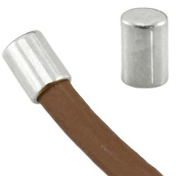 Endkappe. 3x4mm. Für Schnur 2mm. Silberfarben