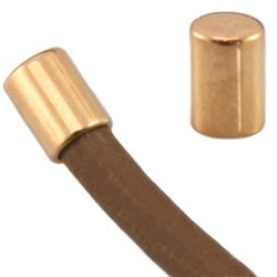 End cap. 3x4mm. For cord 2mm. Rose-colored