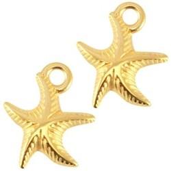 Starfish Pendant. Gold 13x16mm.