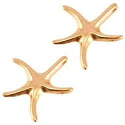Starfish-Anhänger glatt. Rose-farbigen 18mm.