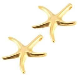 Starfish-Anhänger glatt. Gold 18mm.
