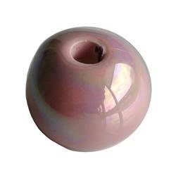 Ceramic Bead. 24mm. Light Pink Rainbow. big hole