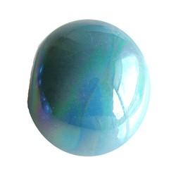 Ceramic Bead. 24mm. Blue Rainbow. big hole