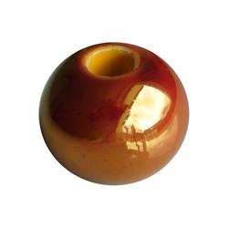 Ceramic Bead. 20mm. Golden yellow. big hole