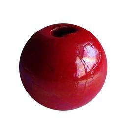 Keramikperlen. 24mm. Rot. großes Loch
