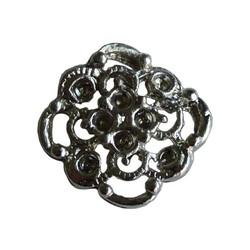 Metalen ornamentje 16mm zilverkleurig