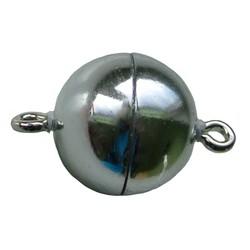 Magnetverschluss 12mm hohe Qualität shiny silver