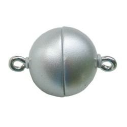 Magneetsluiting rond 12mm hoogwaardige kwaliteit mat zilverkleurig