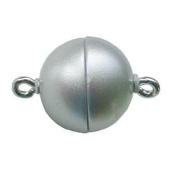 Magnetverschluss 12mm hochwertigen Mattsilber