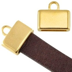 End cap. 12x13mm. For leather 10x2mm. Golden