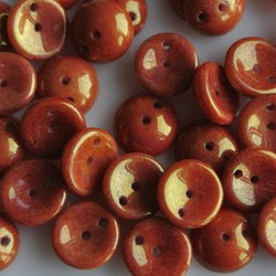 Piggy beads bronze Orange 25 pieces for