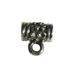 Metallperle mit Auge. 10mm. Silber Perlen mit großem Loch.