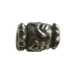 Metallwulst modifizierten röhrenförmig. 7x10mm. Silber.