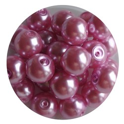 Glass Pearl 8mm pink 100 pieces