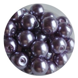Glass Pearl 8mm purple 100 pieces