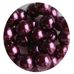 Glasperlen 8mm purple 100 Stück