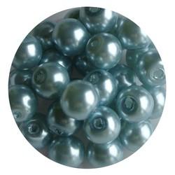 Glasparel lichtblauw 8mm 100 stuks