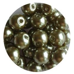 Glasparel olivine 8mm 100 stuks