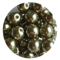 Glass pearl olivine 8mm 100 pieces