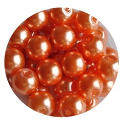 Glasparel orange 8mm 100 pieces