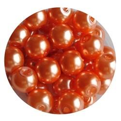 Glasparel orange 8mm 100 stuks