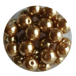 Glasparel golden 8mm 100 pieces