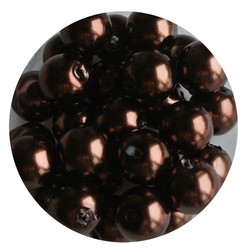Glasparel donkerbruin 8mm 100 stuks
