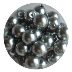 Glasperlen 8mm hellgrau 100 Stück