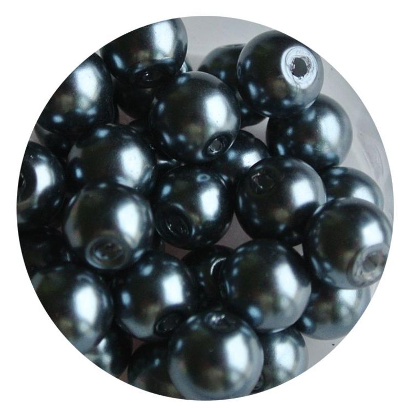 8mm glass pearl-gray 100 pieces
