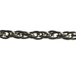 Zilverkleurige Ketting. 5x7,5mm. 1 meter voor