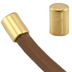 Endkappe. 6x4mm. Für Kordel 3mm. Goldfarben