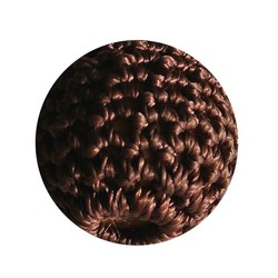 Crocheted bead brown