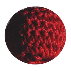 Crocheted bead red