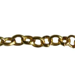 Goudkleurige Ketting. 4x3,5mm. 1 meter voor