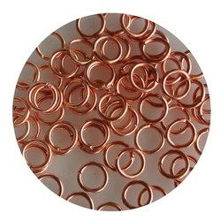 Aanbuigringetjes. 5mm. Coppery. bag of 100 pieces for